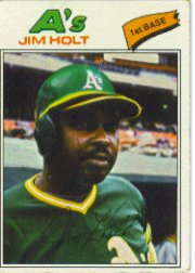 1977 Topps Baseball Cards      349     Jim Holt